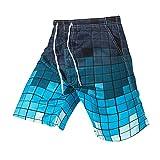 Rera Herrem Sommer Große Größen Bermuda mit Bunt Motiv Drucken Schnelltrocknend Strand Shorts Gummizug Kurze Hose Badehose