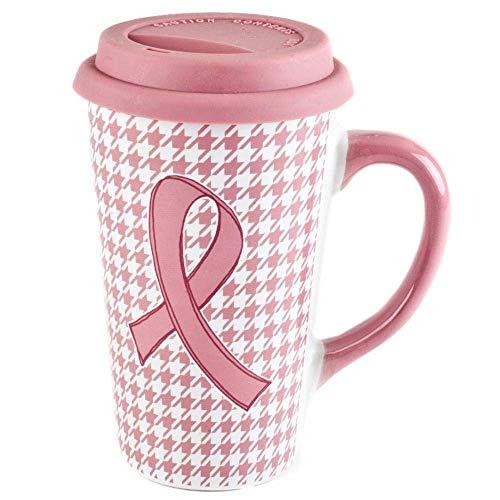 Blau Harbor Brustkrebs Bewusstsein pink ribbon Keramik 473ml Reise Becher W/Silikon Deckel 1 Mug -