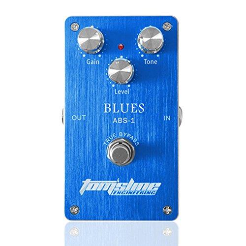 Festnight Distortion Effektpedal, Elektrogitarre Effektpedal Aluminiumlegierung Gehäuse True Bypass Blues