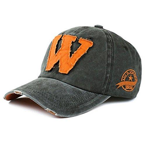Gorra de béisbol de algodón retro – viejo estilo iParaAiluRy al aire libre unisex de moda ajustable bordado del sombrero de vaquero para hombres y mujeres