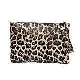 COZOCO Frauen Vintage Applikationen Leopard Griff Tasche Keine Strap Tag Kupplungen Retro...