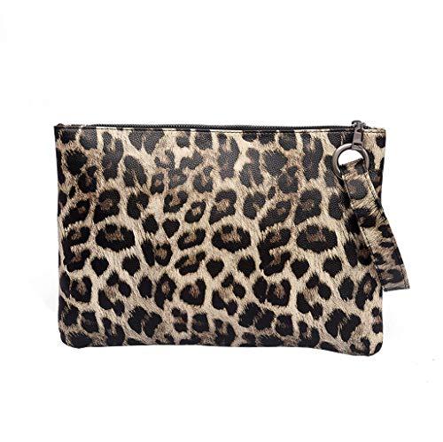 ZYUEER Handtaschen Damen Umhängetasche Clutch Bag Umschlag Tasche Mode Leopard Zebra Leder (Nylon Zebra Handtasche)