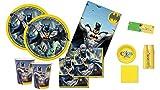 uni-que kit n.7 Coordinato Tavola batman gotham + Monocolore Giallo