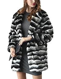 Mujer Pelo Mezclado Y Abrigo Largo Estilo Ibaste Chaquetas Ondulado Abrigos Invierno De Sintético Medio Color qwnEqRgSI