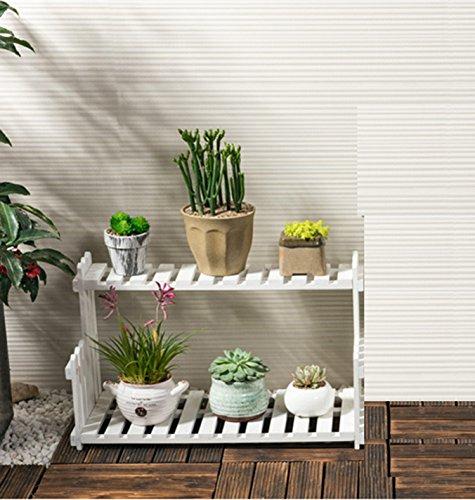 Solid wood flower rack Massivholzblumen Gestell Wohnzimmer Balkonboden mehrstöckige Blumentöpfe Indoor einfache Fleischpflanze Gestell (größe : 40 * 21 * 22cm) -