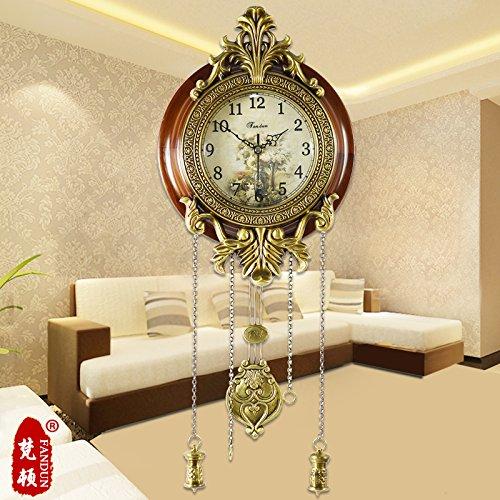 Kreative Continental Messing antik Clock Mode Wohnzimmer grosse Uhr stumm Gartenschaukel Wecker,20 Zoll,8205 klein Messing Zubehör Dame