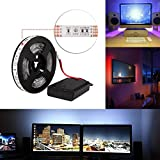 Tiras LED Iluminación 2M RGB 60LEDs Impermeable IP65 SMD 5050 Tira de luz flexible TV Manguera...
