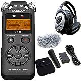 Tascam DR-05V2Grabador de audio + AK de dr11gmk2Juego de accesorios + auriculares Keepdrum