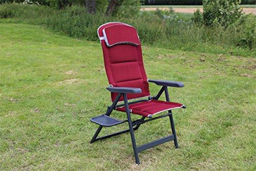 Quest Bordeaux Pro XL Recline Chaise avec table d'appoint