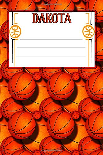 Basketball Life Dakota: College Ruled | Composition Book Dakota Basketball