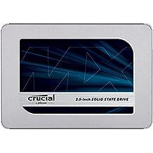 Crucial CT500MX500SSD1(Z) MX500 - Disco duro sólido interno SSD de 500 GB, 3D NAND, SATA, 2.5 pulgadas
