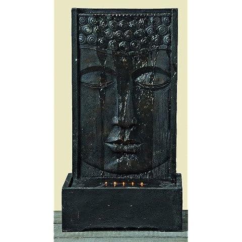 Pozo Escultura Estatua De Buda 90 cm de alto Resina artística Feng-Shui Cataratas