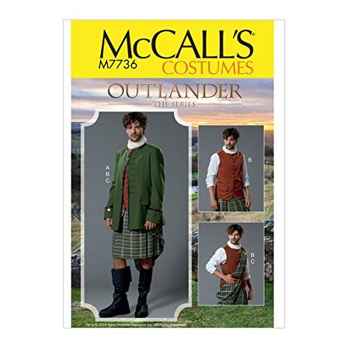 Kostüm Mccall Pattern - McCall 's Patterns Herren-Kostüm Schnittmuster, Tissue, Mehrfarbig, 17x 0,5x 0,07cm