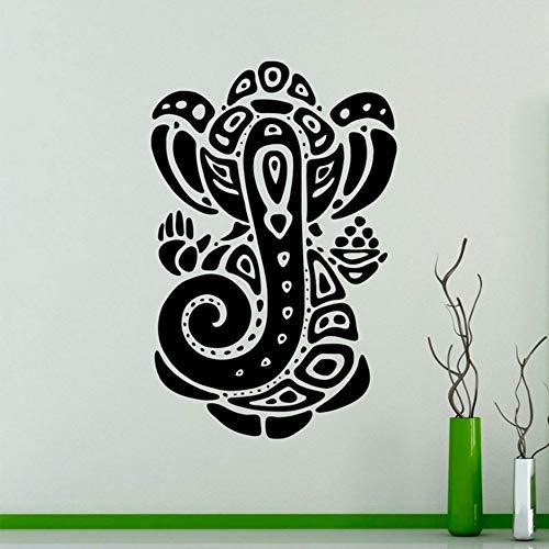 【mzdzhp】【Kann angepasst werden, Größe, Farbe, DIY-Muster】Ganesha Elephant Vinyl Aufkleber Indian Religion Wandaufkleber Interior Schlafzimmer Dekor Asien Indien Design Tapete 57X88 cm