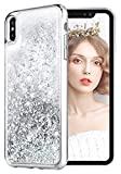 wlooo Coque pour iPhone XS Max, Glitter Silicone Paillette Étui Protection TPU...
