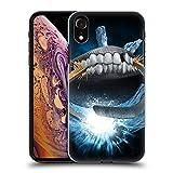Head Case Designs Offizielle Tom Wood Hockey Monster Ruckseite Hülle für iPhone XR