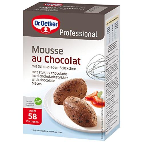 Dr. Oetker Professional Mousse au Chocolat mit Schokoladenstückchen, Dessertpulver in 1 kg Packung