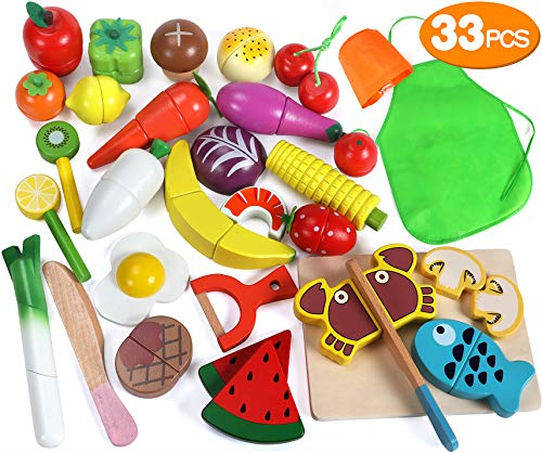 Lewo Frutas Corte Set Verduras Magnetic Wooden Food