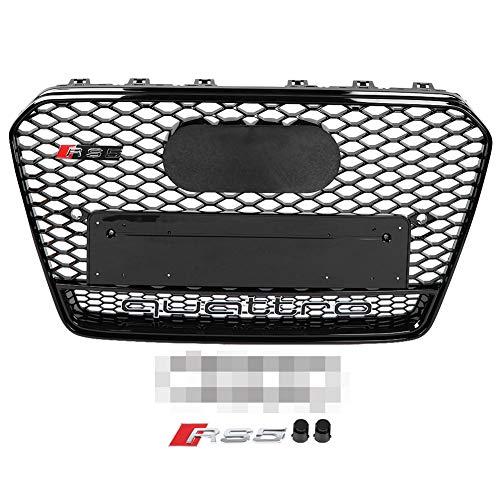 Qii lu RS5 Quattro Style Wabengitter Honeycomb Grill, Front Sport Wabengitter Honeycomb Haubengrill Schwarz für A5 / S5 B8.5 13-16