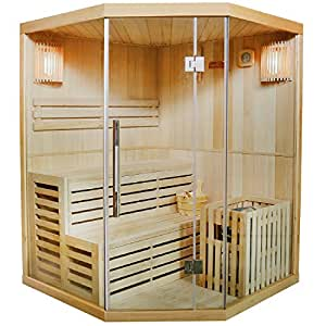 traditionelle saunakabine finnische sauna espoo 150 x 150 cm 6 kw k che haushalt. Black Bedroom Furniture Sets. Home Design Ideas