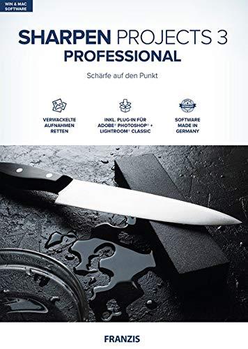 FRANZIS SHARPEN projects 3 professional|Bildbearbeitung|Fotografie für Laien und Profis|Incl. Photoshop PlugIn|für Windows & Mac|Disc|Disc (Haus-design-software Für Mac)
