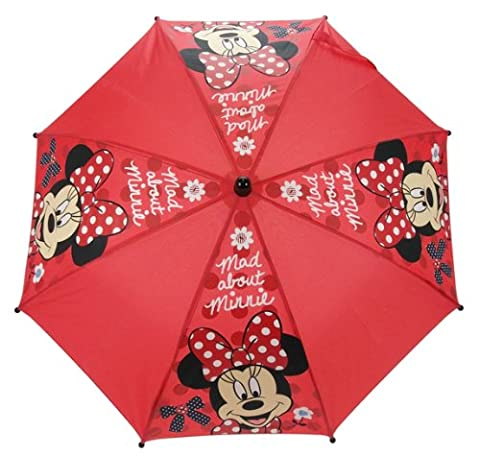 Minnie Mouse, Mad about Minnie , Taschenschirm rot rot 6 x6 x 66cm