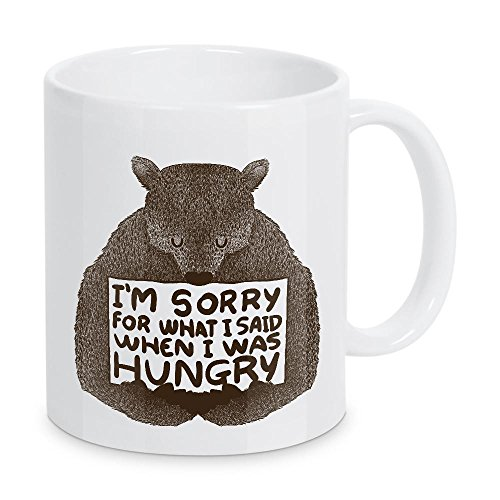 artboxONE Tasse 'I'm Sorry For What I Said When I Was Hungry' von Tobe Fonseca - Kaffeetasse Natur
