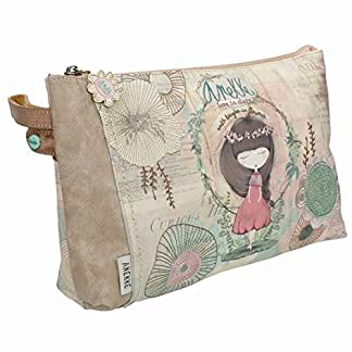 Sany Bags S.L. Anekke Nature Extra Pocket Toiletry Bag Bolsa de Aseo, 29 cm, (Multicolour)