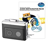 auvisio Kassettenrecorder: 2in1-Kassetten-Player zum Digitalisieren mit Audio Restaurator Pro 8 (Usb Kassettenspieler)