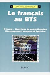 Le Francais au B.T.S. Broché
