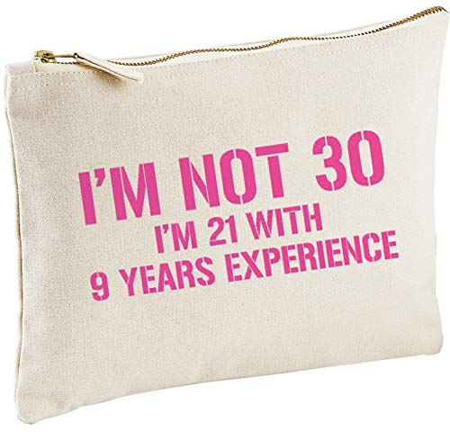 Lolmugs I'm Not 30, 30th Birthday Cotton Make-Up Gift Bag