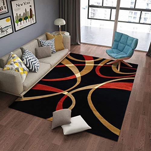 CHUANGCHUANG BB- Moderner Teppich Minimalista Astratto Curve Design Area Teppich für Schlafzimmer, Nachttisch, 8 mm, Dicke 0405 140 * 200cm A Bb Curve