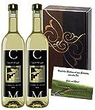 Weingeschenk Geschenkset Castell Miquel Blanco Weißwein 2er Geschenk Set, elegance