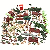 WINLISTING Clearance Sale Educational Toys Gift for Children,310 Pieces Military Model World Land and Air Force Scenes Sandbox Set (Colorful)