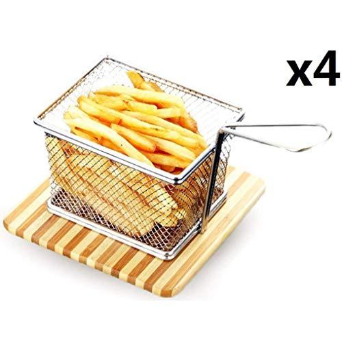 Frittierkorb Friteusenkorb Frittierkörben Edelstahl Mini Chip Serving Baskets Fryer...