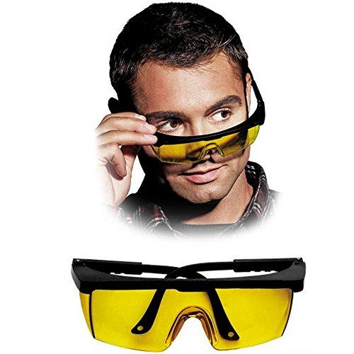 Sicherheitsbrille gelb Schutzbrille Arbeitsbrille Augenschutz Laserbrille Augenschutzbrille EN 166