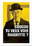 JUNIQE® Affiche 20x30cm Humour Peintres et artistes - Design 'Magritte' (Format : Portrait) - Poster, Tirages d'art & Tableaux par des artistes indépendants créé par Fists Et Lettres
