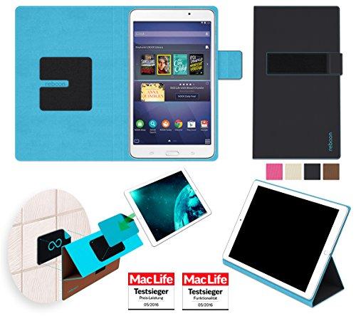 Samsung Galaxy Tab 4 Nook Hülle Cover Case in Schwarz - innovative 4 in 1 Tablethülle - Anti-Gravity Wandhalterung KFZ Halterung Tischaufsteller Schutzhülle - Tablet Halterung für Auto und Wand - Galaxy Nook-etui Tab 4 Samsung