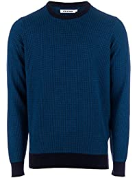 Pull Micro Gingham Crew Neck pour Homme