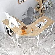 مكتب زاوية SDHYL كبير الحجم على شكل حرف L مكتب كمبيوتر مكتب مكتب المنزل مكتب على شكل L