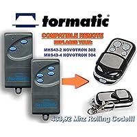 Tor Matic mhs43–2Novotron 302, mhs43–4Novotron 304compatible handsender, 4de canal para emisor, 433.92MHz Rolling Code. Top Calidad ersatzgerät.
