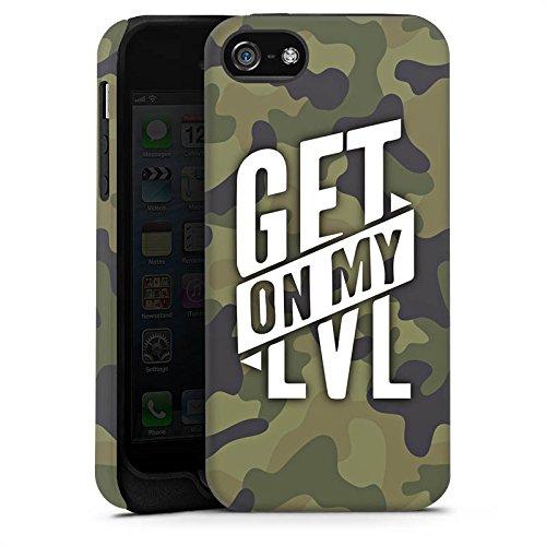 Apple iPhone 7 Silikon Hülle Case Schutzhülle Montanablack Fanartikel Merchandise Get On My Level Camo Tough Case matt