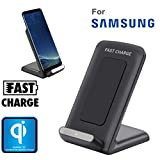 OVERDOSE Samsung Galaxy S8 / S8 Plus Drahtloses Ladegerät, Qi Fast Wireless Charger Rapid Charging Stand for Samsung Galaxy S8 / S8 Plus