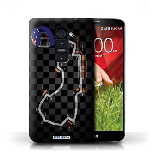 Kobalt® Imprimé Etui / Coque pour LG G2 / USA/Austin conception / Série 2014 F1 Piste Australie/Melbourne
