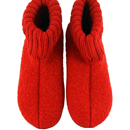 Haflinger Everest Karlo Unisex - Kinder Hohe Hausschuhe Red