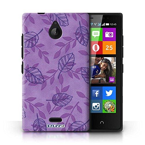 Kobalt® Imprimé Etui / Coque pour Nokia X2 Dual Sim / Bleu/Vert conception / Série Motif Feuille/Branche Pourpre/Bleu