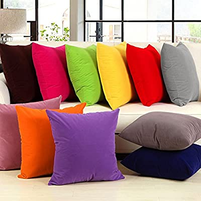 """MultiWare Plain Dyed Cushion Cover 100% Percale Cotton Pillow Case Sofa Home Decor 18""""x18"""" produced by OEM - quick delivery from UK."""
