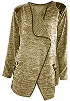 #4103 Damen Designer Jacke Bolero Jäckchen Cardigan Strickjacke 36 38 40 S M L Herbst Schwarz
