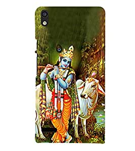 Lord Krishnayya 3D Hard Polycarbonate Designer Back Case Cover for Huawei Ascend P6 :: Huawei P6 :: Huawei Ascend P6 Dual