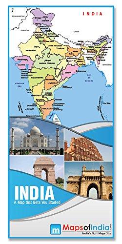 India Folded Map (70 x 94 cm)